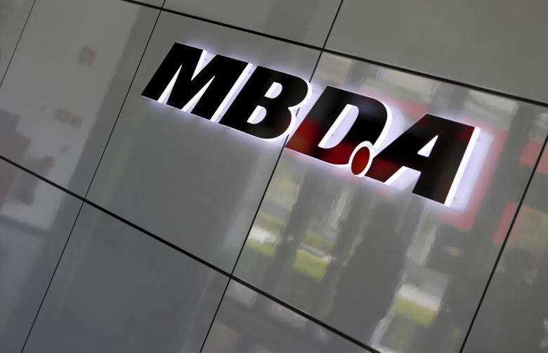 European Defence Group MBDA's company logo is pictured in Schrobenhausen near Ingolstadt, Germany, June 25, 2015.   REUTERS/Michaela Rehle