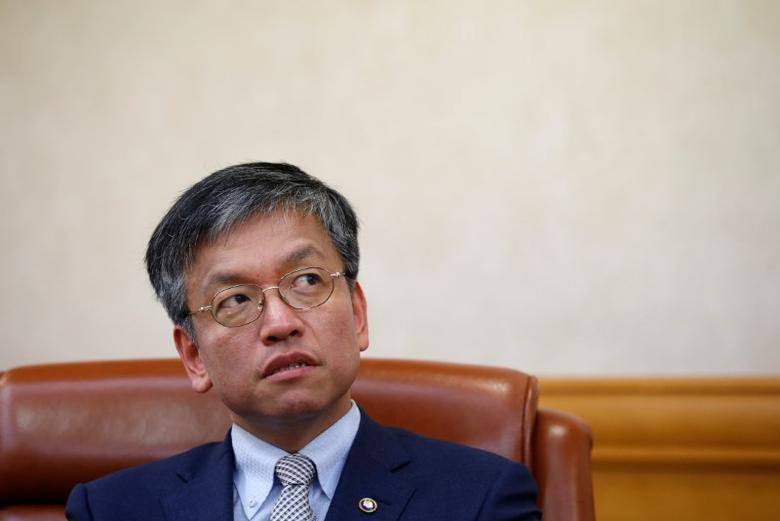 South Korea Vice Finance Minister Choi Sang-mok speaks during an interview with Reuters in Seoul, South Korea, June 16, 2016.  REUTERS/Kim Hong-Ji