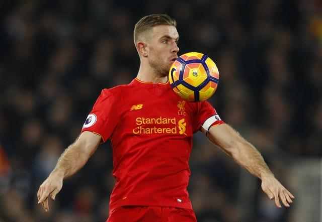 Britain Soccer Football - Liverpool v Tottenham Hotspur - Premier League - Anfield - 11/2/17 Jordan Henderson  Reuters / Phil Noble Livepic