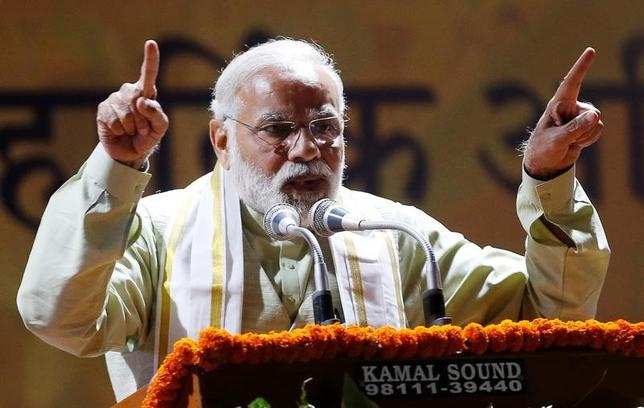 3月13日、インド地方議会選でのナレンドラ・モディ首相(写真)の大きな勝利は、インド国民が前進のため痛みに耐える用意があることを示している。ニューデリーで12日撮影(2017年 ロイター/Adnan Abidi)