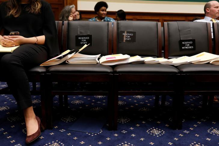 Copies of amendments offered during a marathon House Energy and Commerce Committee hearing on a potential replacement for the Affordable Care Act are seen on Capitol Hill in Washington March 9, 2017.  REUTERS/Aaron P. Bernstein