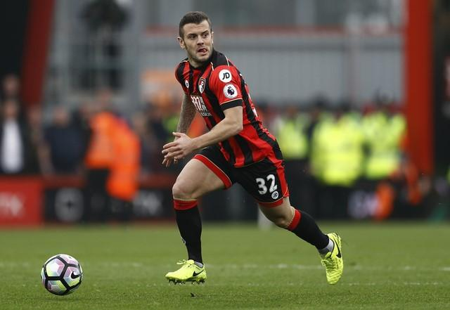 Britain Football Soccer - AFC Bournemouth v West Ham United - Premier League - Vitality Stadium - 11/3/17 Bournemouth's Jack Wilshere in action Reuters / Peter Nicholls Livepic