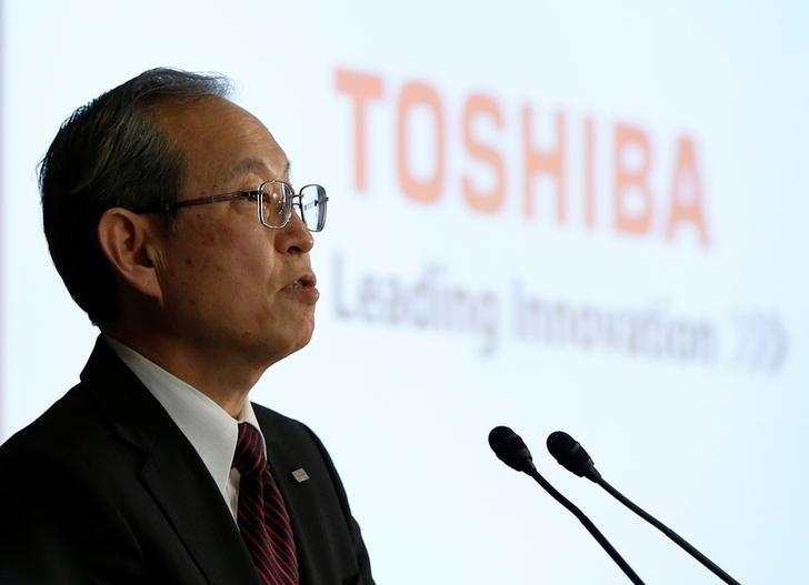 Toshiba Corp CEO Satoshi Tsunakawa attends a news conference at the company's headquarters in Tokyo, Japan March 14, 2017. REUTERS/Issei Kato