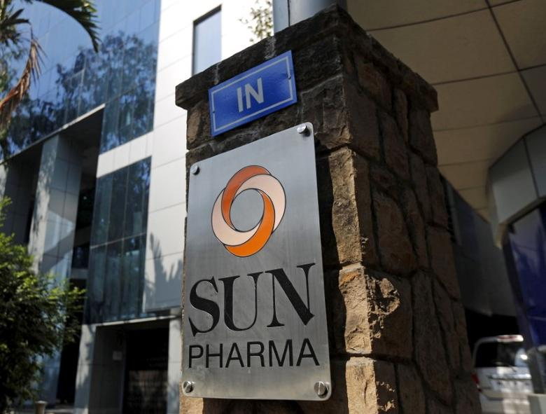 A logo of Sun Pharmaceutical Industries Ltd is pictured at its research and development center in Mumbai, India, December 21, 2015. REUTERS/Shailesh Andrade