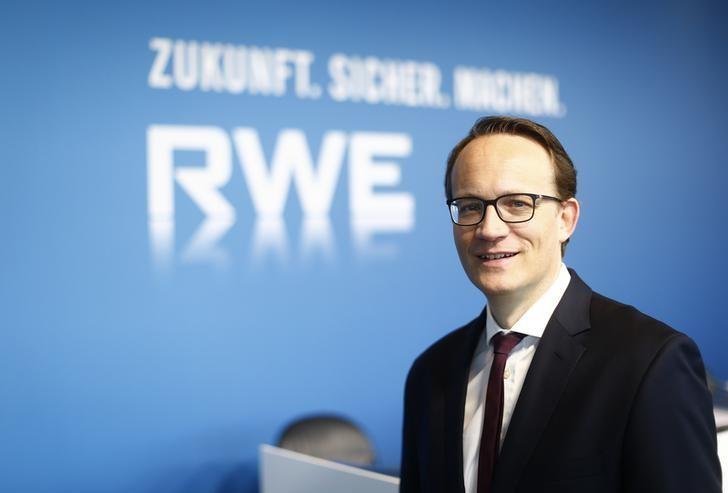 RWE CFO Markus Krebber during news conference in Essen, Germany, March 14, 2017. Reuters/Thilo Schmuelgen