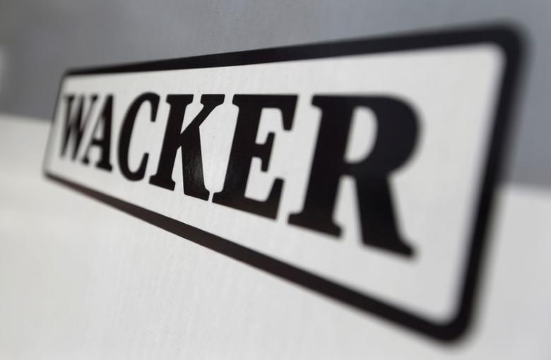 Company sign of Wacker Chemie AG is pictured in the south-east Bavarian town of Burghausen April 1, 2014. REUTERS/Michaela Rehle/File Photo