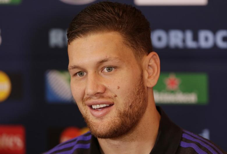 Rugby Union - New Zealand Press Conference - Oatlands Park Hotel, Weybridge, Surrey - 20/10/15 Tawera Kerr Barlow of New Zealand during the press conference Action Images via Reuters / Henry Browne Livepic