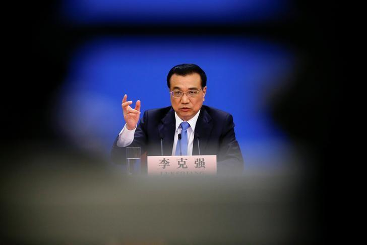 China's Premier Li Keqiang gestures during a news conference after the closing ceremony of China's National People's Congress (NPC) at the Great Hall of the People in Beijing, China, March 15, 2017. REUTERS/Damir Sagolj