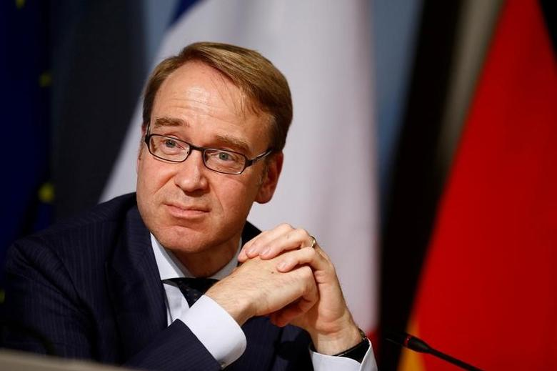 Central Bank (Bundesbank) Chief Jens Weidmann attends a press conference after the Franco-German Financial Council meeting in Berlin, Germany, September 23, 2016. REUTERS/Axel Schmidt/File Photo