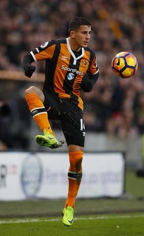 Britain Football Soccer - Hull City v Liverpool - Premier League - The Kingston Communications Stadium - 4/2/17 Hull City's Omar Elabdellaoui in action Reuters / Phil Noble Livepic/File Photo