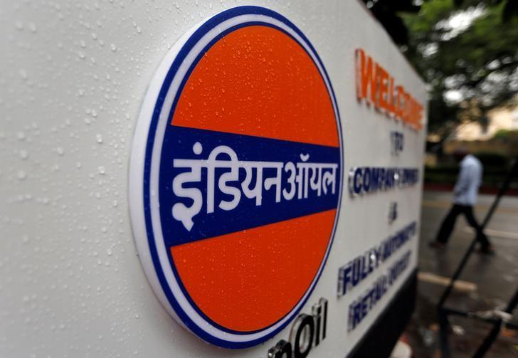 A logo of Indian Oil is picture outside a fuel station in New Delhi, India August 29, 2016. REUTERS/Adnan Abidi/Files