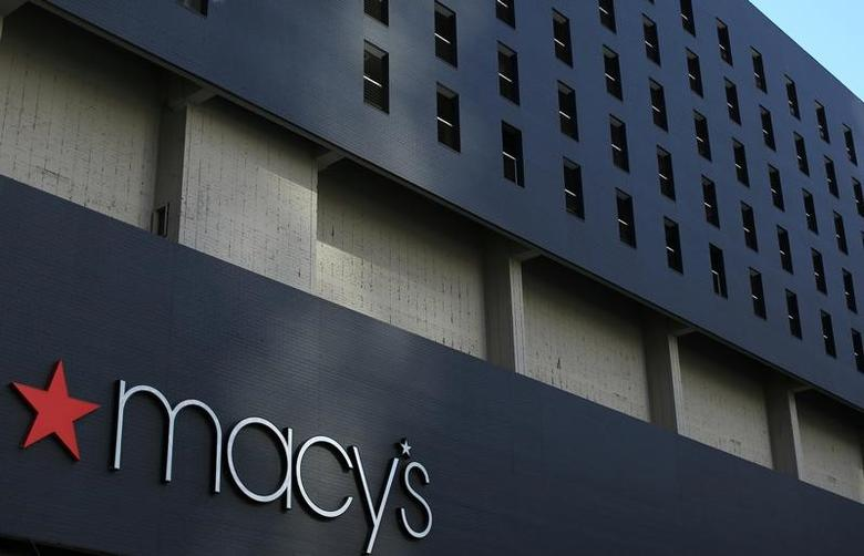 The Macy's logo is pictured on the side of a building in down town Los Angeles, California, U.S., March 6, 2017.    REUTERS/Mike Blake