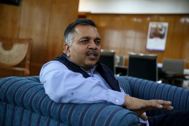 Pawan Kumar Agarwal, Chief Executive Officer of the Food Safety and Standards Authority of India (FSSAI), speaks to Reuters during an interview in New Delhi, India, March 7, 2017. REUTERS/Cathal McNaughton
