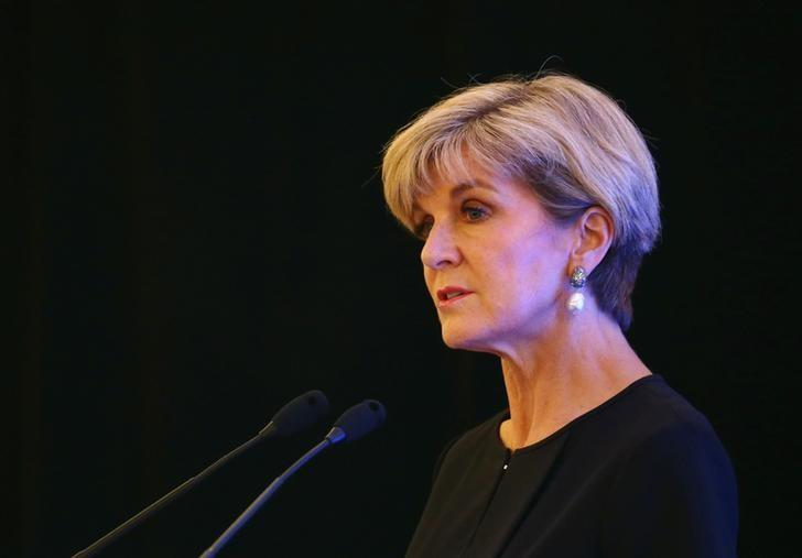Australia's Foreign Minister Julie Bishop speaks during the 28th International Institute of Strategic Studies (IISS) Fullerton Lecture in Singapore March 13, 2017. REUTERS/Yong Teck Lim/Files
