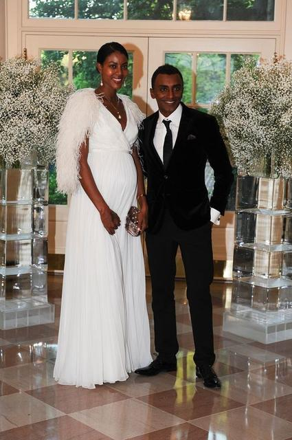 Marcus Samuelsson, Chef and Restaurateur, Marcus Samuelsson Group and Maya Samuelsson arrive for the state dinner in honor of the Nordic Summit at the White House in Washington, May 13, 2016. REUTERS/Mary F. Calvert