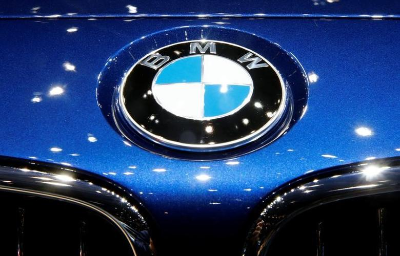 The logo of BMW is seen during the 87th International Motor Show at Palexpo in Geneva, Switzerland March 8, 2017. REUTERS/Arnd Wiegmann