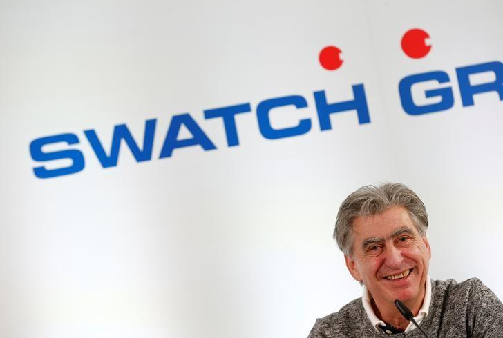 CEO and Chairman of the Board of the Swatch Group Nick Hayek smiles during the Swiss watchmaker's annual news conference in Biel, Switzerland March 16, 2017. REUTERS/Denis Balibouse