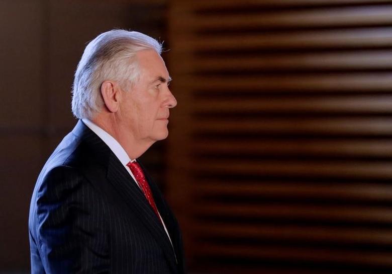 U.S. Secretary of State Rex Tillerson  in Tokyo, Japan March 16, 2017. REUTERS/Eugene Hoshiko/Pool