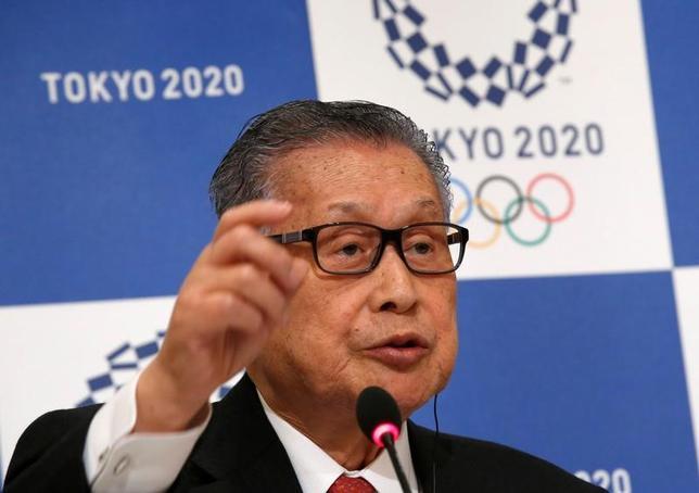 3月17日、2020年東京五輪・パラリンピック組織委員会の森喜朗会長(写真)は、五輪の野球・ソフトボールの一部試合について、福島県の県営あづま球場で行うことになったと明らかにした。写真は昨年12月、都内で撮影(2015年 ロイター/Kim Kyung-Hoon)