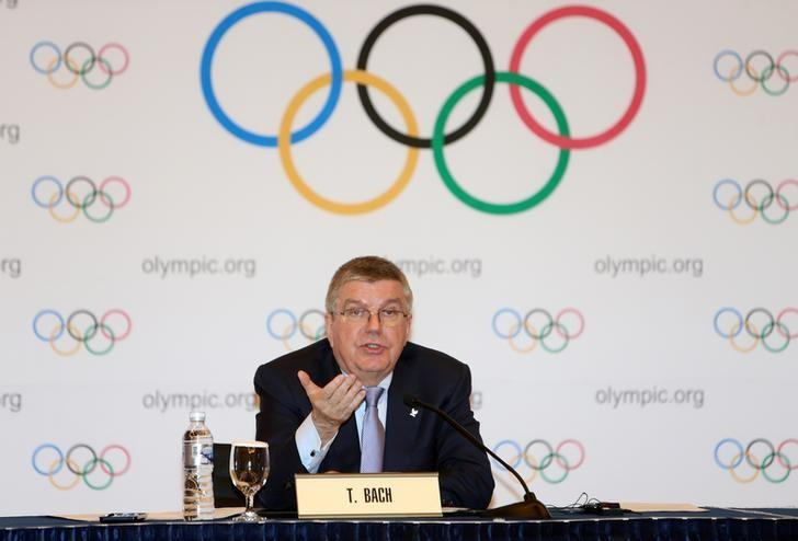 International Olympic Committee (IOC) President Thomas Bach speaks during a news conference in Pyeongchang, South Korea, March 17, 2017. Yu Hyung-jae/Yonhap via REUTERS