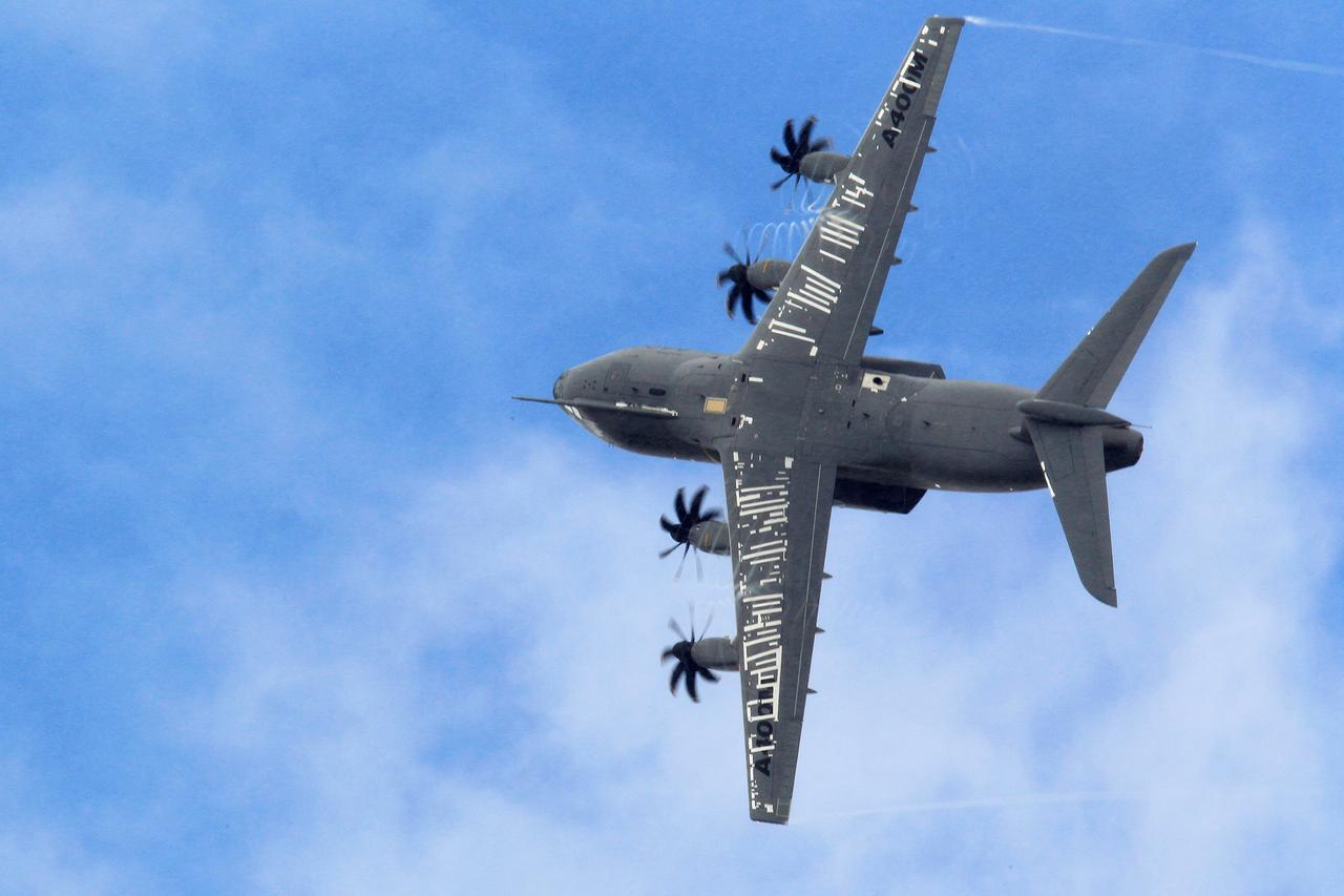 File Photo: An Airbus A400m Military Aircraft Participates In A Flying  Display During The 50th Paris Air Show At The Le Bourget Airport Near  Paris, June 23,