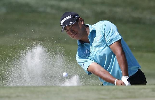 3月18日、米男子ゴルフのアーノルド・パーマー招待の第3ラウンド、20位で出た松山英樹は72で回り、通算2アンダーの24位タイに後退した(2017年 ロイター/Reinhold Matay-USA TODAY Sports)