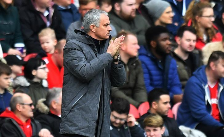 Britain Soccer Football - Middlesbrough v Manchester United - Premier League - The Riverside Stadium - 19/3/17 Manchester United manager Jose Mourinho  Reuters / Anthony Devlin Livepic