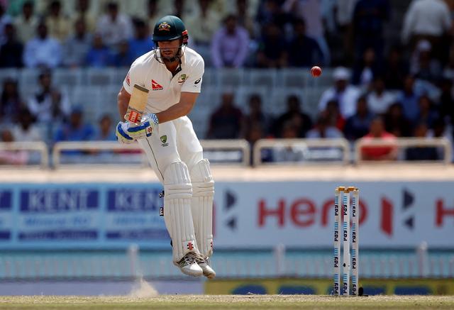 Cricket - India v Australia - Third Test cricket match - Jharkhand State Cricket Association Stadium, Ranchi, India - 20/03/17 - Australia's Shaun Marsh evades a delivery. REUTERS/Adnan Abidi