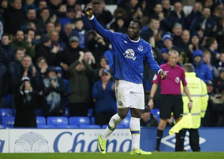 Britain Football Soccer - Everton v Hull City - Premier League - Goodison Park - 18/3/17 Everton's Romelu Lukaku celebrates scoring their fourth goal  Reuters / Andrew Yates Livepic