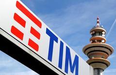 Il logo di Telecom Italia.   REUTERS/Stefano Rellandini/File Photo