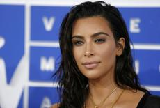 FILE PHOTO: Kim Kardashian arrives at the 2016 MTV Video Music Awards in New York, U.S., August 28, 2016.  REUTERS/Eduardo Munoz/File photo