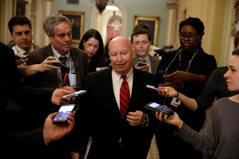 FILE PHOTO: House Ways and Means Committee Chairman Kevin Brady (R-TX) speaks with the media on Capitol Hill in Washington, D.C., U.S., March 14, 2017. REUTERS/Aaron P. Bernstein