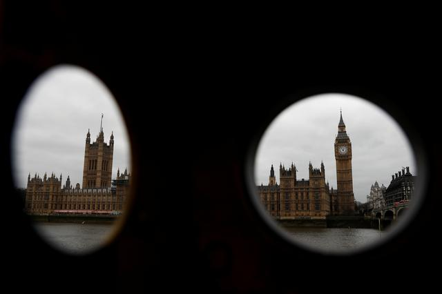The Houses of Parliament are seen through a broken telescope in London, Britain, March 20, 2017. REUTERS/Stefan Wermuth