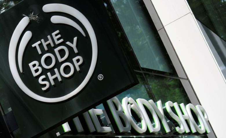The logo of British cosmetics and skin care company The Body Shop is seen outside a store in Vienna, Austria, June 4, 2016.    REUTERS/Leonhard Foeger