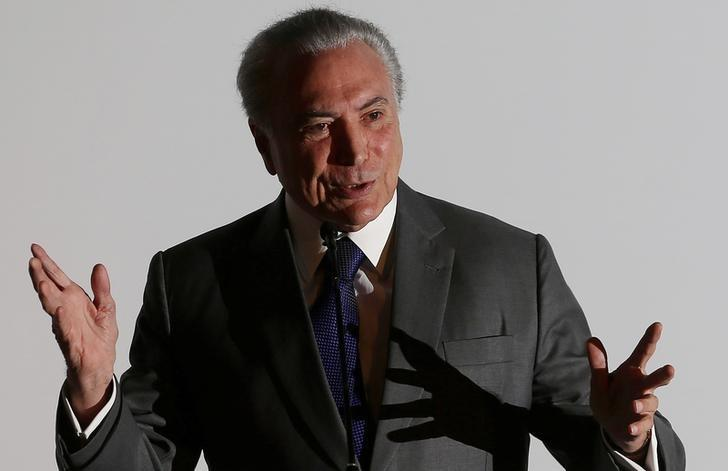 Brazil's President Michel Temer speaks during the Latin American Cities Conference in Brasilia, Brazil, March 21, 2017.  REUTERS/Adriano Machado