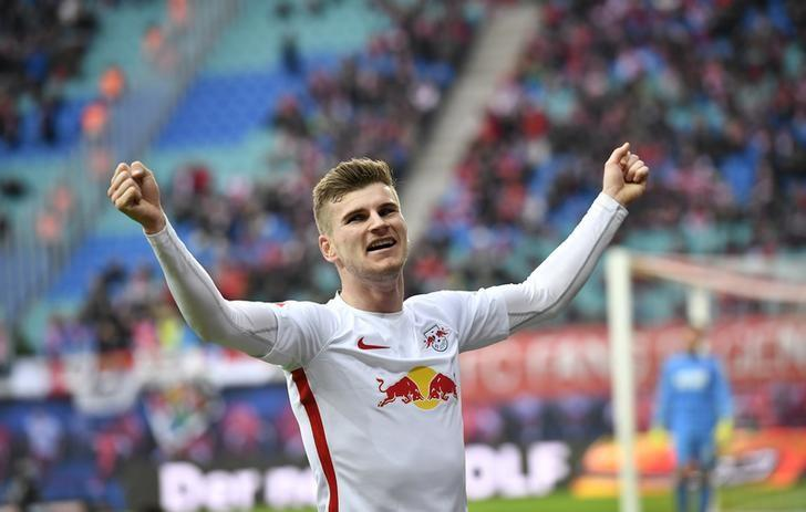 Football Soccer - RB Leipzig v Cologne - German Bundesliga - Red Bull Arena, Leipzig, Germany - 25/02/17 - Leipzig's imo Werner celebrates his goal v Cologne.     REUTERS/Matthias Rietschel/Files