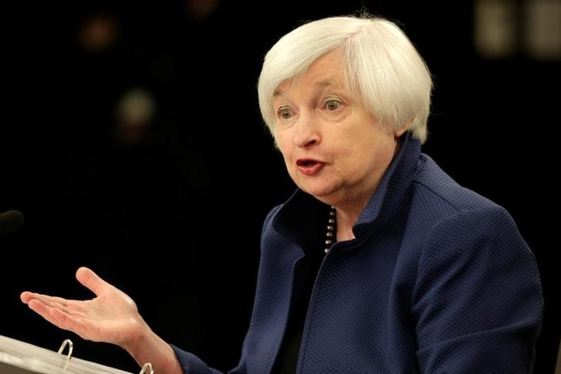 Fed's Yellen does not comment on monetary policy