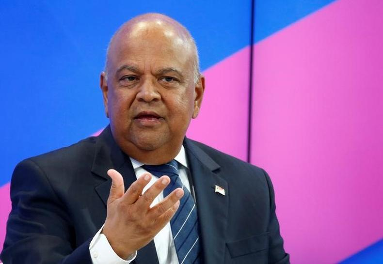 South Africa's Gordhan to court investors in Britain, U.S.