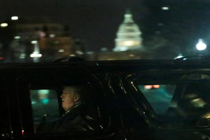 U.S. President Donald Trump leaves after a dinner at Trump International Hotel in Washington, U.S., March 25, 2017. REUTERS/Yuri Gripas