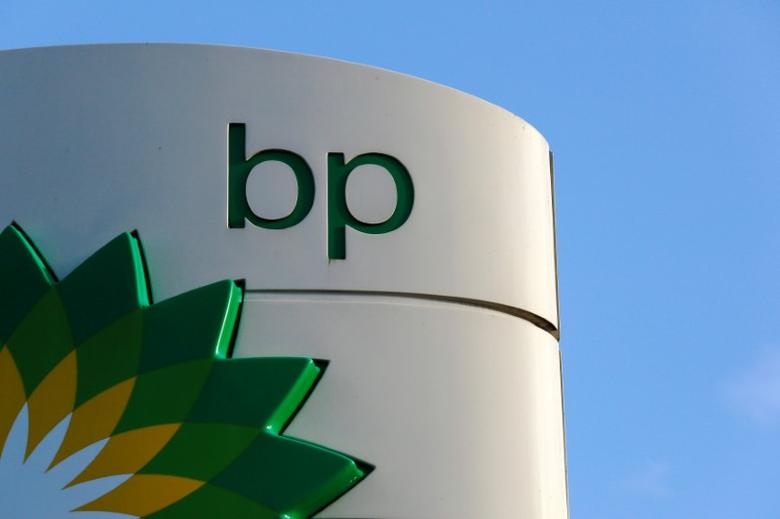 A BP logo is seen at a petrol station in London, Britain January 15, 2015.   REUTERS/Luke MacGregor/File Photo