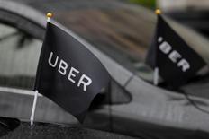 Uber Technologies va se retirer le mois prochain du Danemark, en raison d'un durcissement de la législation sur les taxis qui prévoit notamment l'installation obligatoire de compteurs. /Photo prise le 26 février 2017/REUTERS/Tyrone Siu