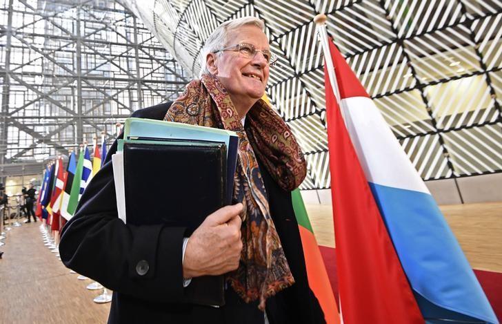 EU Brexit negotiator Michel Barnier arrives at the EU summit in Brussels, Belgium, March 9, 2017. REUTERS/Dylan Martinez