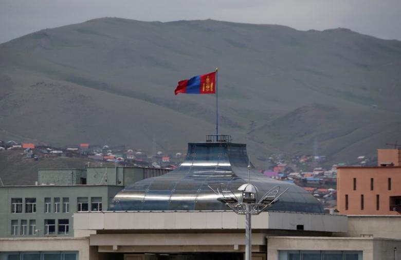 Mongolian flag flies on the top of parliament building in Ulaanbaatar, Mongolia, June 29, 2016. REUTERS/Jason Lee