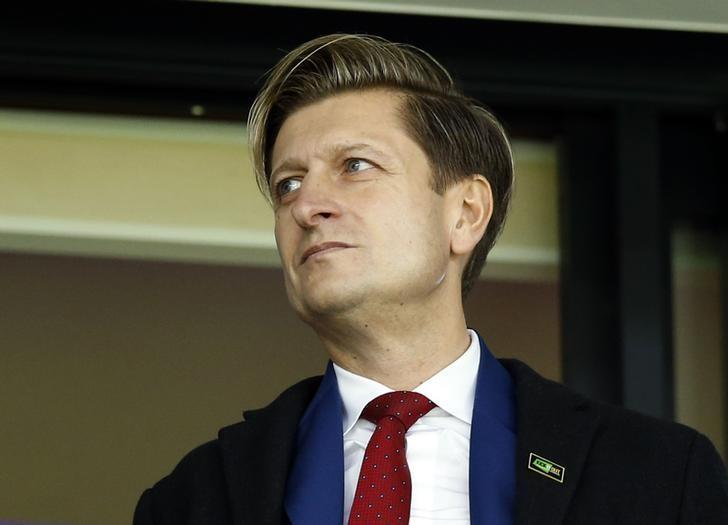 Britain Soccer Football - West Bromwich Albion v Crystal Palace - Premier League - The Hawthorns - 4/3/17 Crystal Palace chairman Steve Parish in the stands Action Images via Reuters / Andrew Boyers/ Livepic/ Files