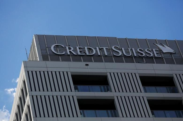 Credit Suisse logo is pictured on their office in Warsaw Poland, March 15, 2017. REUTERS/Kacper Pempel