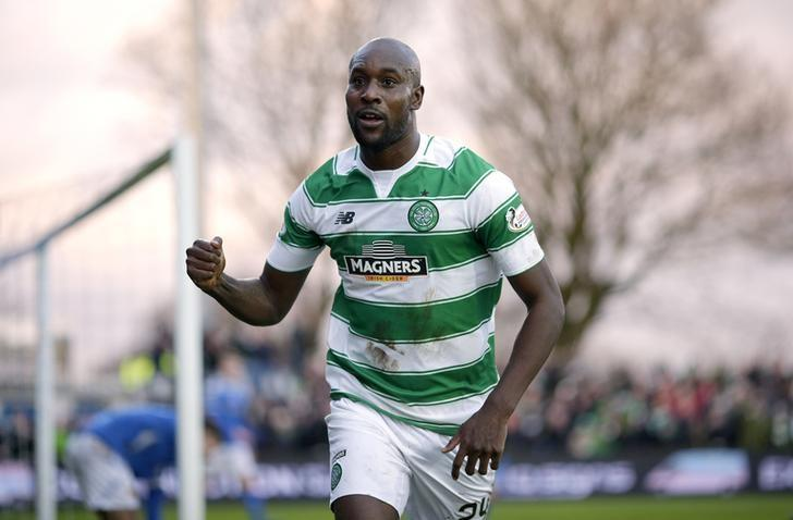 Football Soccer - Stranraer v Celtic - William Hill Scottish FA Cup Fourth Round - Stair Park - 10/1/16Celtic's Carlton Cole (R) scores their second goalAction Images via Reuters / Graham StuartLivepic/File Photo