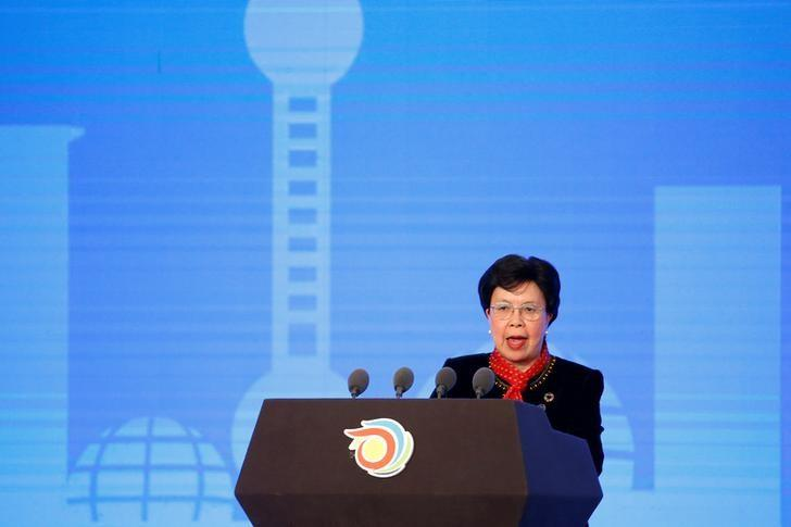 Director General of the World Health Organization (WHO) Margaret Chan speaks during the opening ceremony of the 9th Global Conference on Health Promotion in Shanghai, China November 21, 2016. REUTERS/Aly Song/Files