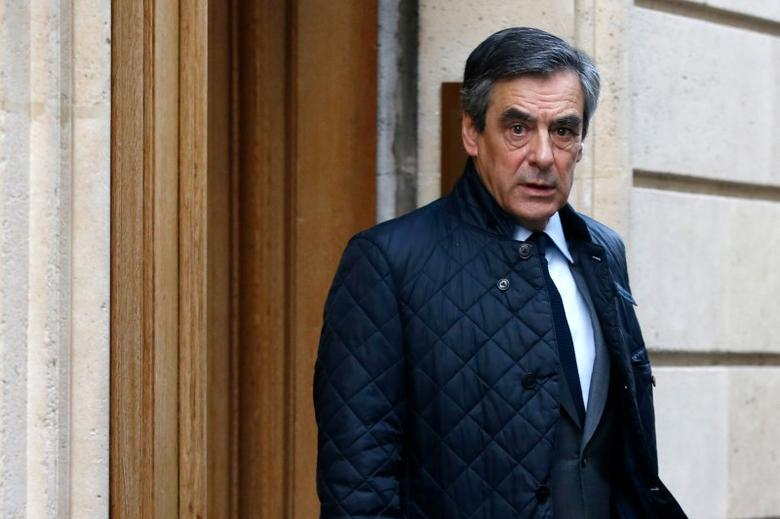 Francois Fillon, former French Prime Minister, member of the Republicans political party and 2017 presidential election candidate of the French centre-right, leaves his home in Paris, France March 28, 2017. REUTERS/Gonzalo Fuentes