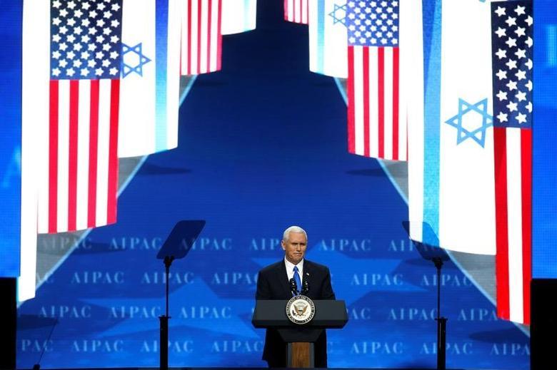 U.S. Vice President Mike Pence speaks in Washington, U.S., March 26, 2017.      REUTERS/Joshua Roberts