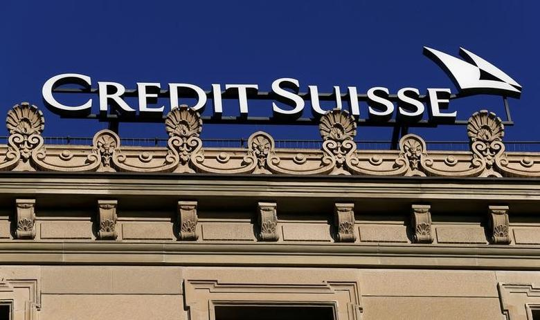 FILE PHOTO:  The logo of Swiss bank Credit Suisse is seen in Zurich, Switzerland, November 3, 2016.  REUTERS/Arnd Wiegmann/File Photo